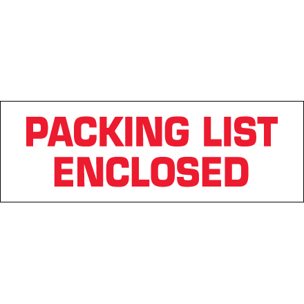 Tape Logic<span class='rtm'>®</span> Pre-Printed - Packing List Enclosed