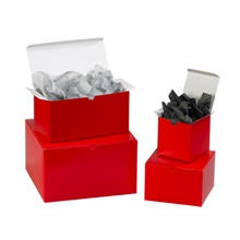 Holiday Red Gift Boxes